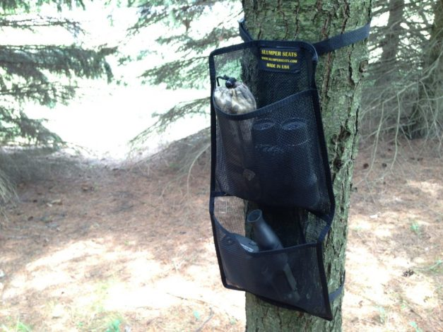 Extra storage for the tree stand pockets